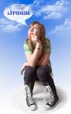 dröm- flicka Royaltyfri Fotografi