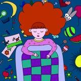 dröm- flicka Arkivbild