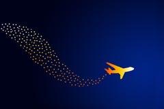 dröm- flyg stock illustrationer