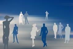 dröm- folklag för bakgrund royaltyfri illustrationer