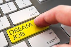Dröm Job Button för handfingerpress 3d arkivbild