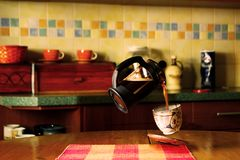 Dröm- kaffe royaltyfri foto