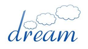 dröm- logo Arkivbild