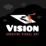 Dröm- logo för vision stock illustrationer