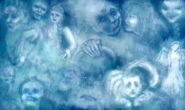 Dröm med spökar vektor illustrationer