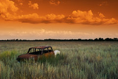 dröm- orange Fotografering för Bildbyråer