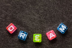 DRÖM- ordbegrepp Royaltyfria Bilder