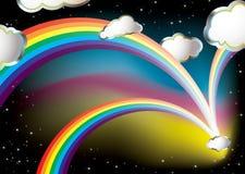 dröm- regnbåge royaltyfri illustrationer