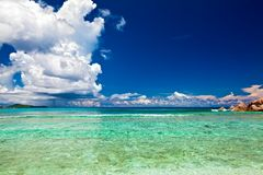 dröm- seascapesikt Arkivfoto