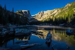 Dröm- sjö Rocky Mountain National Park Royaltyfri Foto