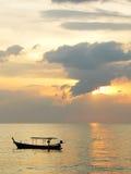 dröm- solnedgång Arkivfoton