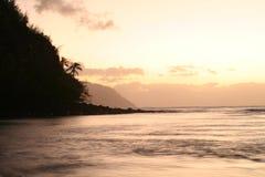 dröm- solnedgång Arkivfoto