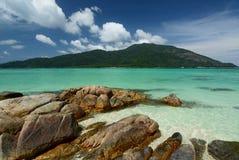 Dröm- strand i Ko Lipe Satun landskap thailand Fotografering för Bildbyråer