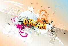dröm- text royaltyfri illustrationer