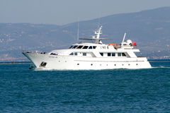 dröm- yacht Arkivbild