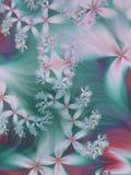 drömlik blom- fractal stock illustrationer