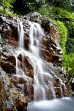 Drömlik vattenfall i skogen Arkivfoto
