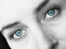 drömlika ögon Royaltyfri Bild
