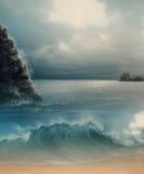 Drömlikt hav Arkivbild