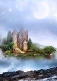 drömlikt slott Arkivfoto