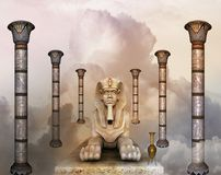 drömm egyptier stock illustrationer