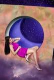 drömm pinky purple Fotografering för Bildbyråer