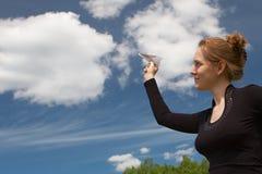 drömm skyen Arkivfoto