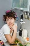 Drömma för hemmafru fotografering för bildbyråer