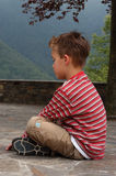 drömma för pojke Fotografering för Bildbyråer