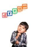 drömma för pojkedag fotografering för bildbyråer