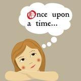 drömma felika flickasagor Royaltyfri Bild
