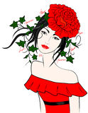 drömma flicka Royaltyfria Bilder