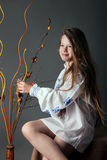 drömma flicka little Arkivbilder