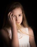 drömma flickabarn Fotografering för Bildbyråer