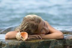 drömma mermaid Arkivbilder