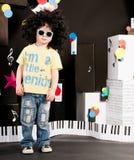 drömma musik för pojkekarriär Arkivbild