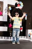 drömma musik för pojkekarriär Royaltyfria Foton