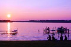 drömma solnedgång Arkivbilder