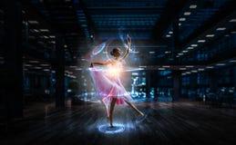Drömma som blir ballerina Blandat massmedia arkivbild