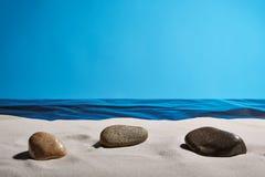 Drömma strand Arkivbild