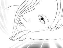 drömmar Stock Illustrationer