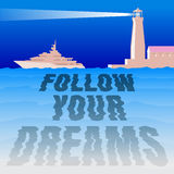 drömmar följer ditt Arkivfoton