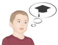 Drömmar för liten unge av kunskap Arkivbild