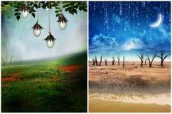 drömmarnas land Arkivbild