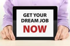 drömmen får jobb nu ditt Arkivfoton