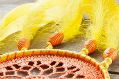 Drömstoppare för orange guling på grå färger royaltyfri bild
