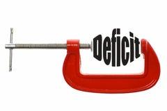 Drücken Sie das Defizit zusammen stockfotos