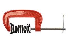 Drücken Sie das Defizit zusammen stockfoto