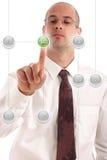 Drücken Sie die Anfangstaste Lizenzfreie Stockfotos