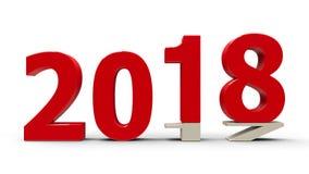2017-2018 drückte 2 flach Stockfotos
